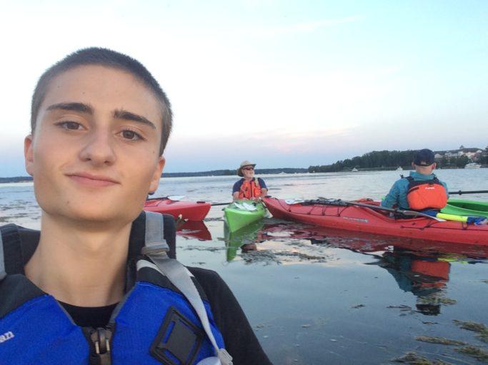 Gita in Kayak