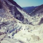 Cava di marmo a Carrara, Toscana