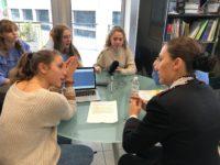 Martina, Gaia, Cleo, Federica, Alice intervistano il capitano Ammirati